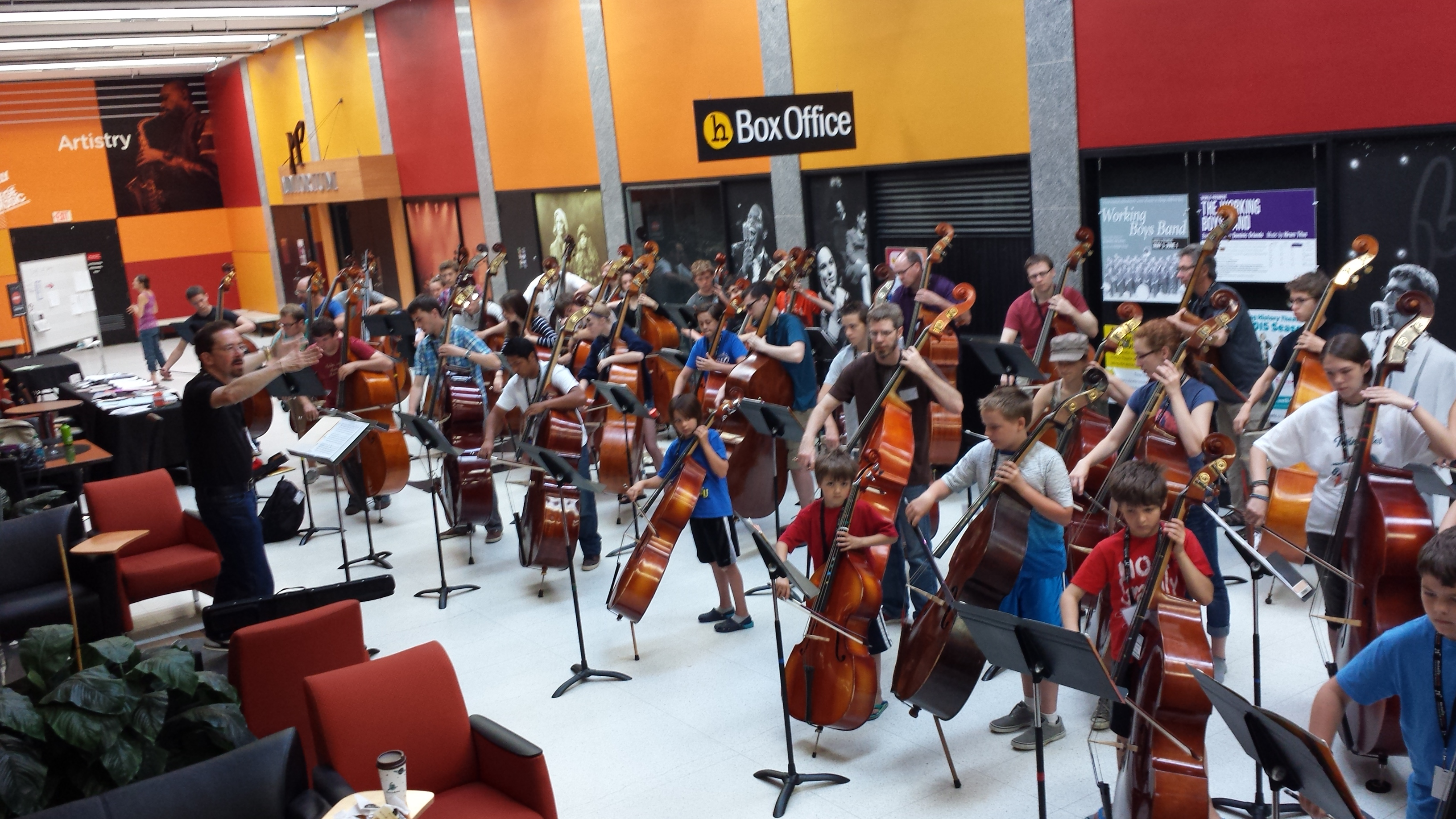 Bass orchestra rehearsal 2014